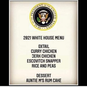 The White House Jamaican Menu